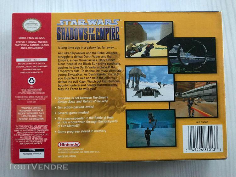 Star wars shadows of the empire nintendo 64 n64 usa cib