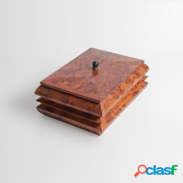 Boîte à bijoux en bois - larg: 16 cm - haut: 6 cm