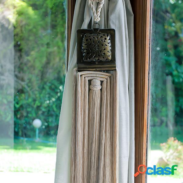 Embrasse à rideau en cuivre - long: 12 cm - larg: 12 cm - haut: 90 cm