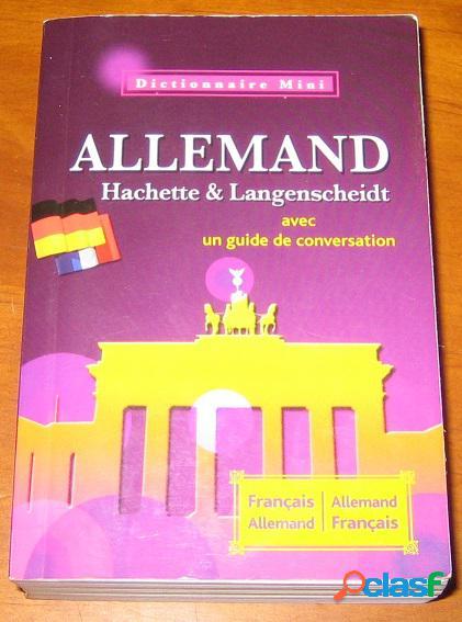 Dictionnaire mini allemand avec guide de conversation