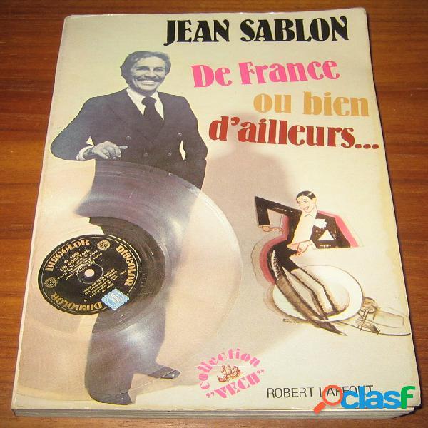 De france ou bien d'ailleurs…, jean sablon