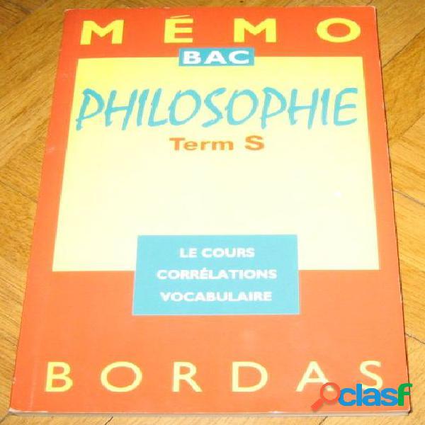 Philosophie term s