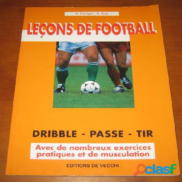 Leçon de football, a. benigni et a. kuk