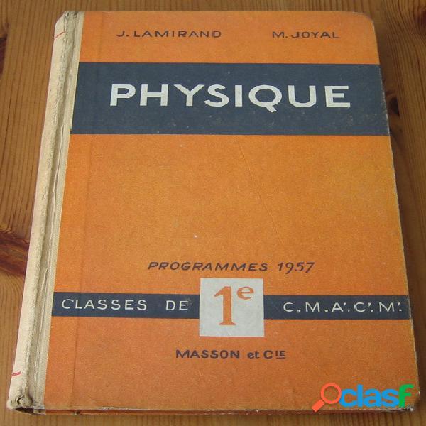 Physique, j. lamirand et m. joyal