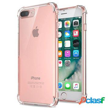 Coque hybride iphone 7 plus / iphone 8 plus résistante aux rayures - cristalline
