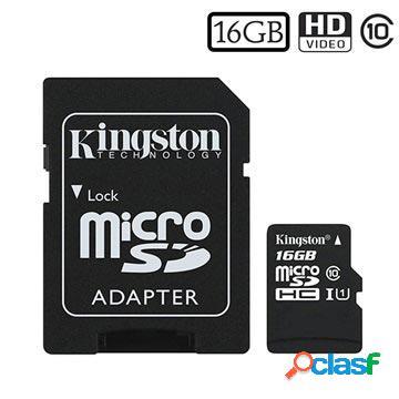 Carte mémoire microsdhc kingston canvas select sdcs/16gb - 16go