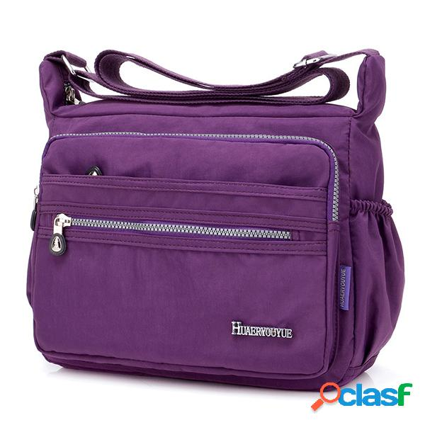 Nylon sac bandoulière léger et imperméable pour femme