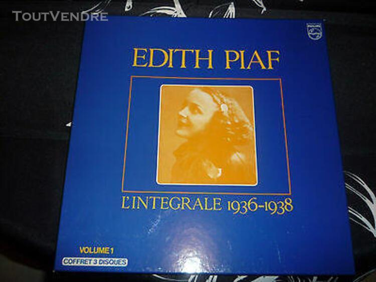 Coffret 3 vinyl l'integrale 1936-1938 33 tours - edith piaf