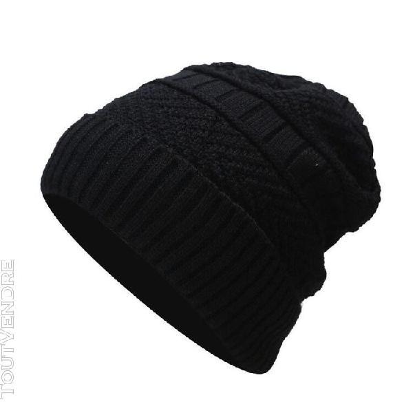 hommes femmes hiver couvre-chef couleur unie pile cap casual