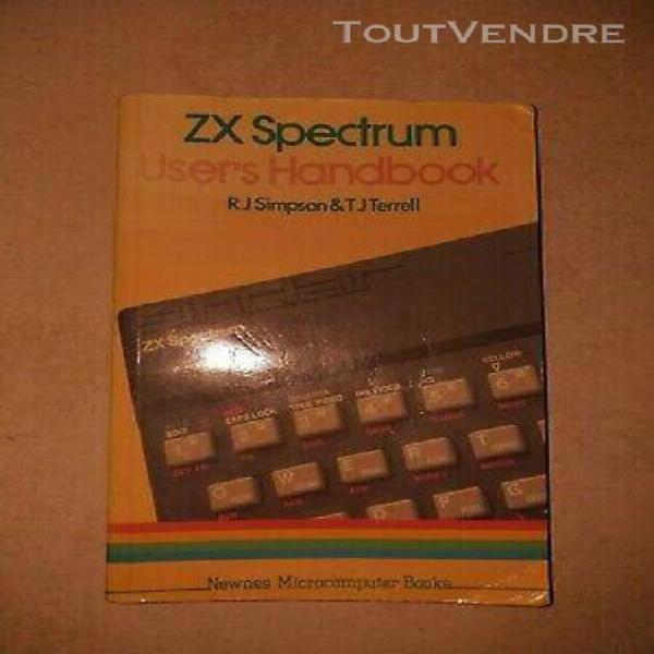 "Livre en anglais ""zx spectrum user's handbook"" pour sinclair"