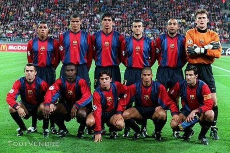 Maillot fc barcelone saison 1998/1999, taille s