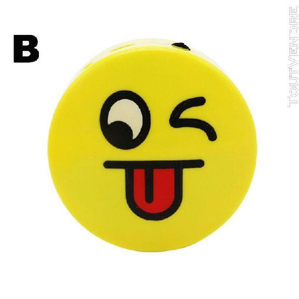 Mini portable mignon dessin animé emoji émotion sans fil