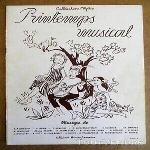 printemps musical, pièces faciles à moyennes pour piano,