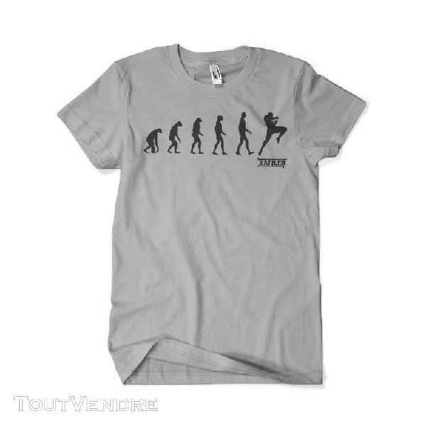 Tee shirt battler evolution boxing gris knee
