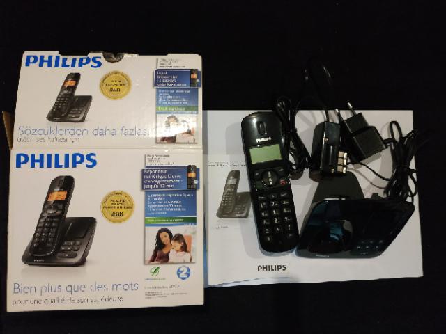 Téléphone/répondeur fixe sans fil philips neuf, la