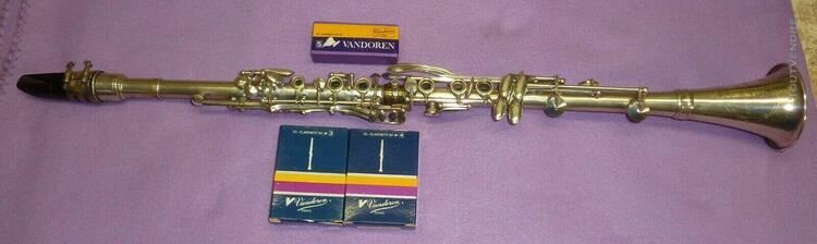 vintage mÉtal clarinette masspacher paris avec bec vandoren