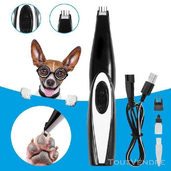 Coupe d'ongles électriques pour animaux de compagnie rasoir