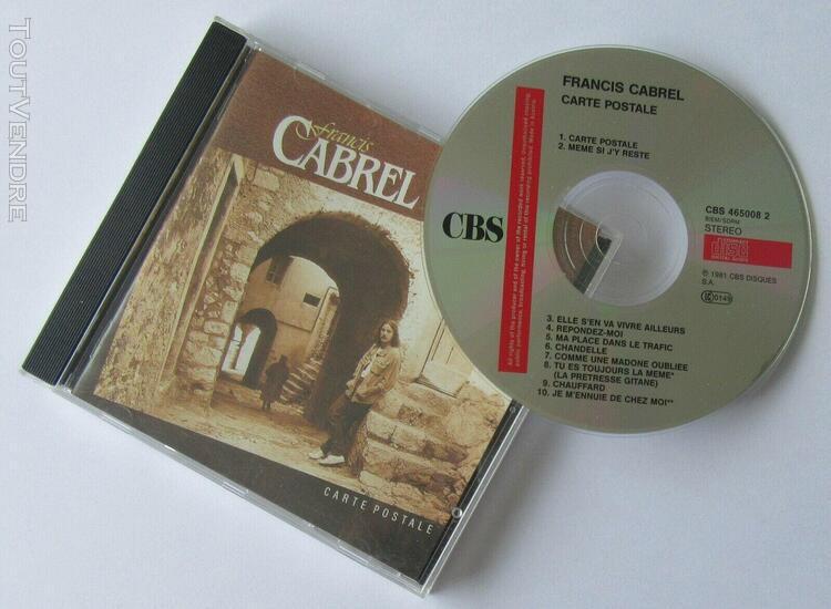 "Francis cabrel ""carte postale"" album cd (austria"