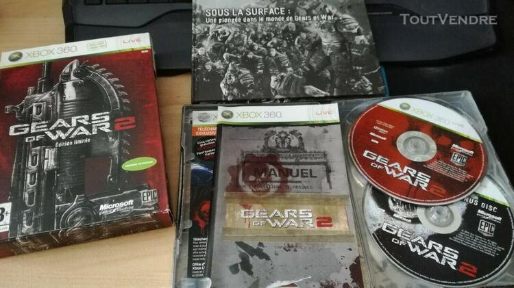 Gears of war 2 - edition limitée xbox 360 rare