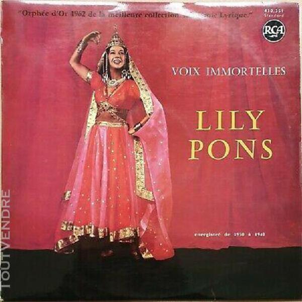 """Lily pons """" voix immortelles. enregistré de 1930 a 1940"""""""