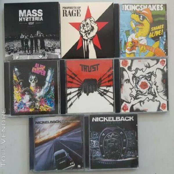 Lot cd rock métal - trust nickelback alice cooper mass