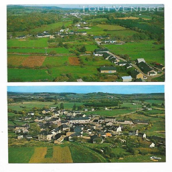 lot de 2 cartes postales semi-moderne planchez petits villa