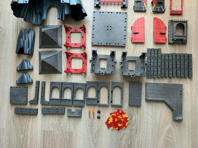 Lot playmobil - pièces pour forteresse du dragon rouge -