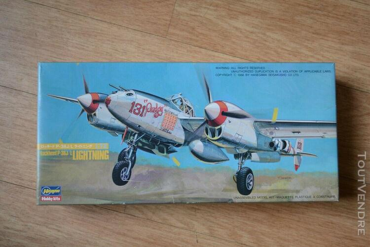 Maquette 1/72 - hasegawa- lightning p 38- vintage 1988
