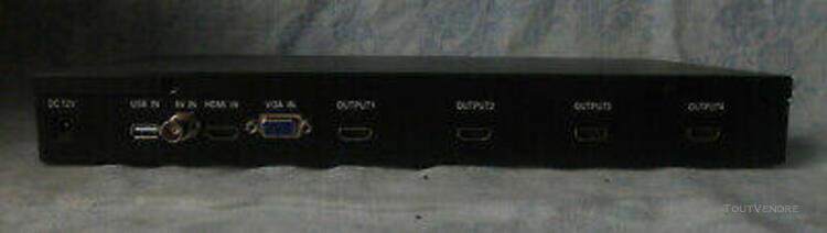 Mur vidéo 2x2# hd vidéo wall processor: controlleur usb +