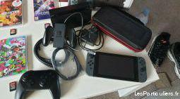 Nintendo switch bundle, 7 jeux, manette pro