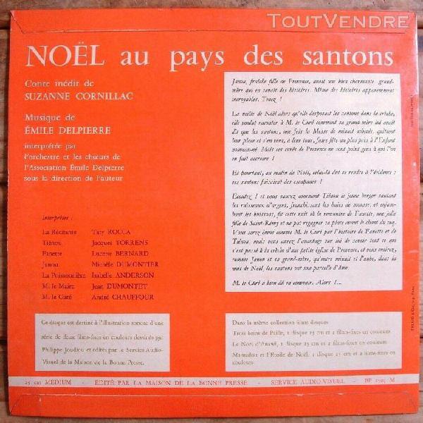 Noel au pays des santons - rare lp 25cm - conte de suzanne c