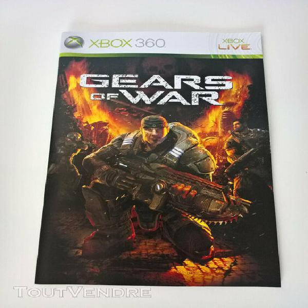 Notice du jeu gears of war microsoft gow xbox 360 x360 pal f