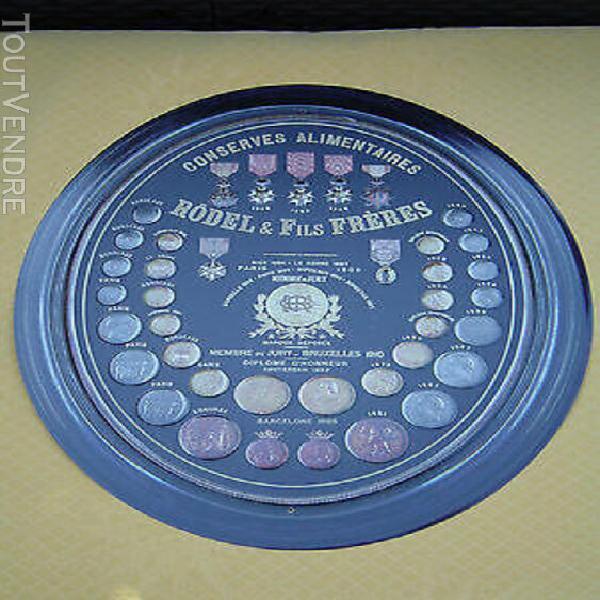 """plaque métal publicitaire """"conserves alimentaires"""" rodel"""