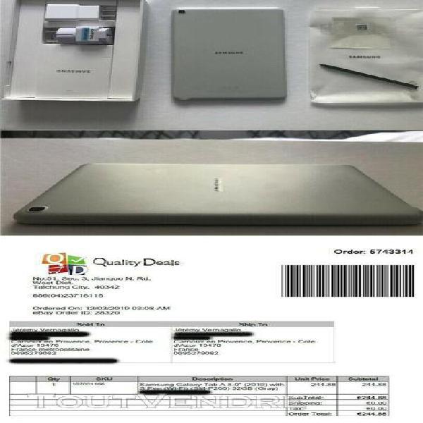 Tablette samsung galaxy tab a 8 pouces avec spen 32gb wifi