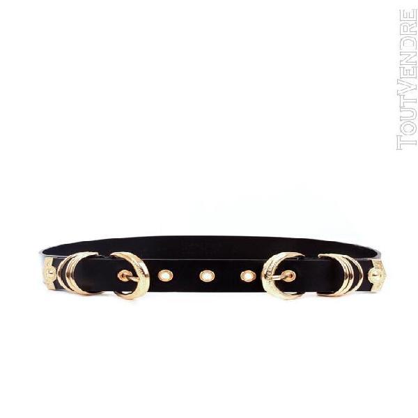Versace jeans couture ceintures ceintures femme noir