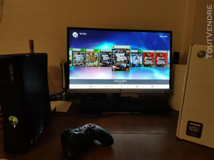 Xbox 360 slim 250go noir black matte rgh / glitch