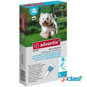 Advantix 100/500 pour chien 2 x 4 pipettes