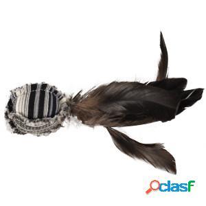 Jouet à plumes noir/blanc pour chat par 2 unités