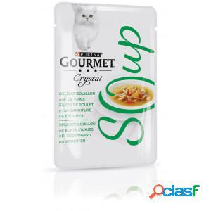 Gourmet crystal soup poulet et légumes pour chat (32x40g) par 2 paquets