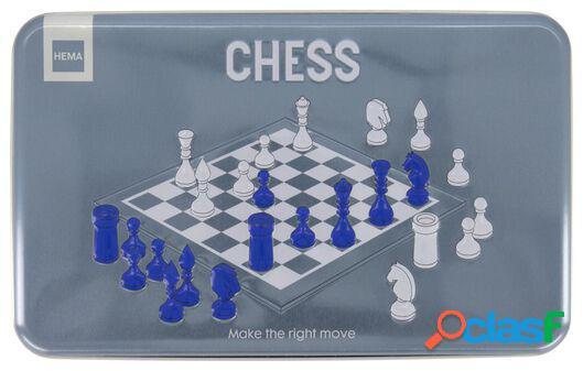 Hema jeu d'échecs dans une boîte métallique