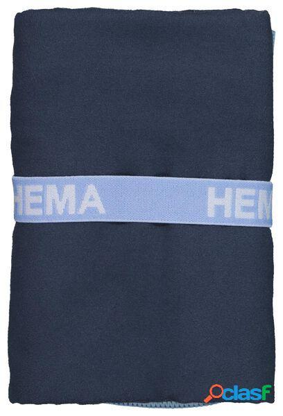 Hema serviette de bain microfibre 70x140 bleu (bleu)