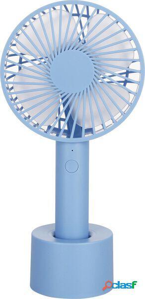 Hema ventilateur à main usb ø 10 cm bleu