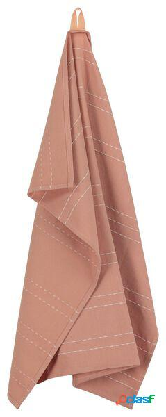 Hema torchon - 65 x 65 - coton - rayure orange