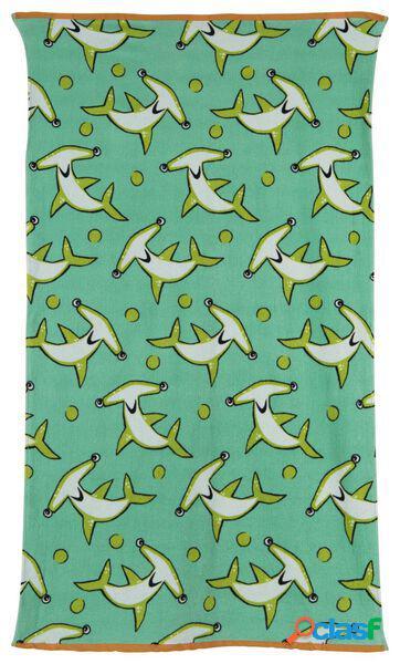 Hema serviette de plage enfant 80 x 140 (vert menthe)