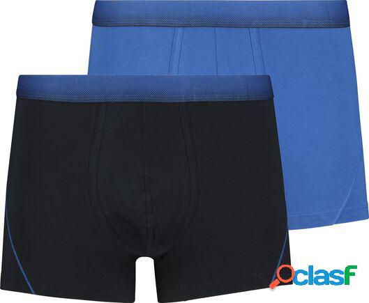 Hema 2 boxers homme modèle court real lasting cotton bleu (bleu)