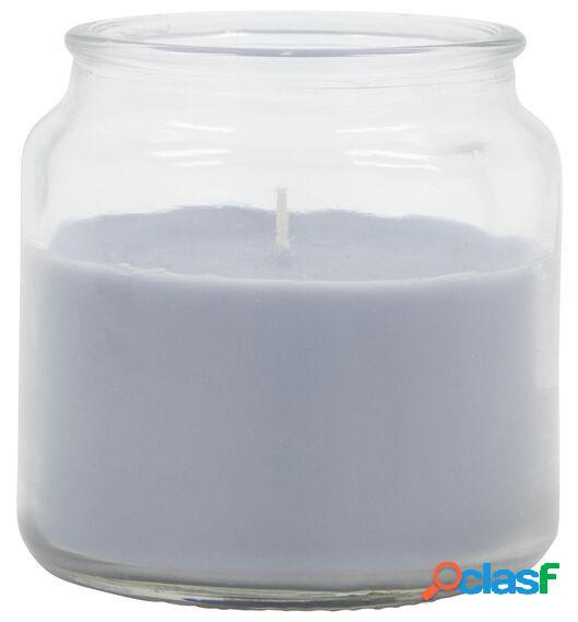 Hema bougie dans un verre - ø 10 cm - bleu clair (multicolore)