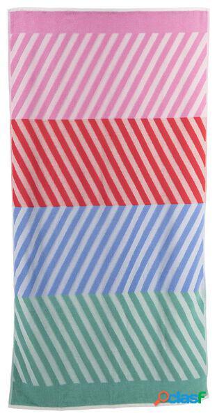 Hema serviette de plage coton 90x180 rayure (multi)
