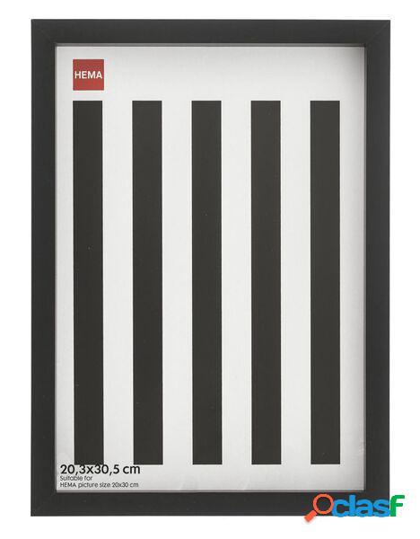 Hema cadre photo - bois - noir - bord profond 20.3 x 30.5