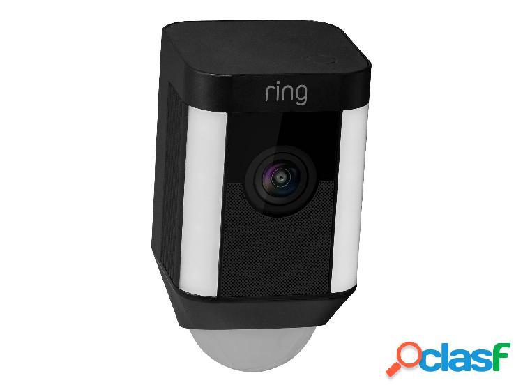 Caméra ring spotlight noire (alimentation secteur)
