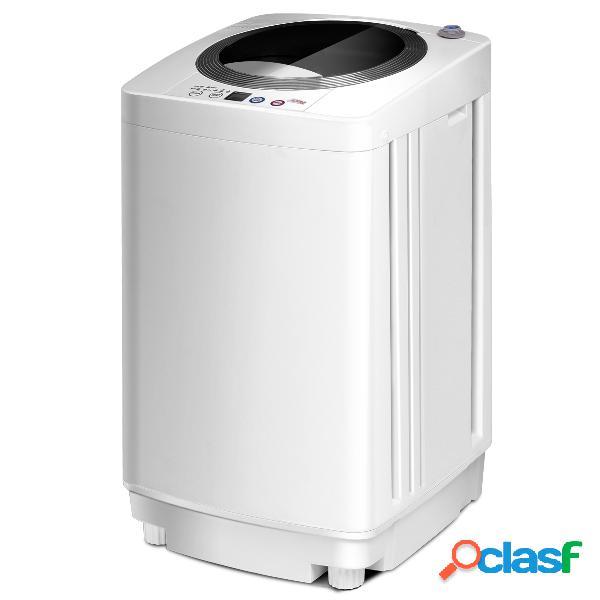 Costway mini machine à laver lave linge automatique 240 w charge supérieure 3 5 kg blanc
